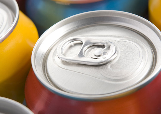 Drinks cans are food contact materials made of metal